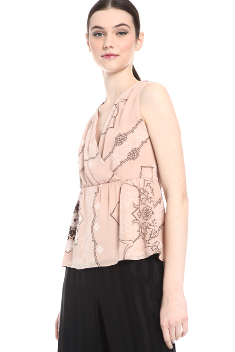 Georgette top with ribbon Intrend