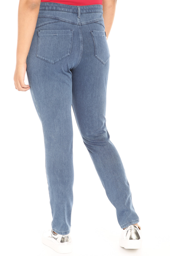 Jersey denim trousers Intrend