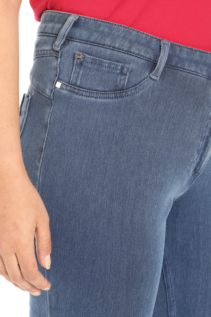 Jersey denim trousers Intrend