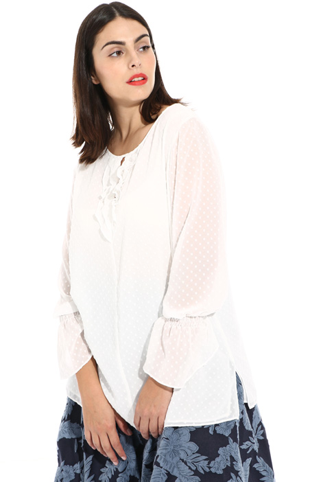 Fil coupé georgette blouse Intrend