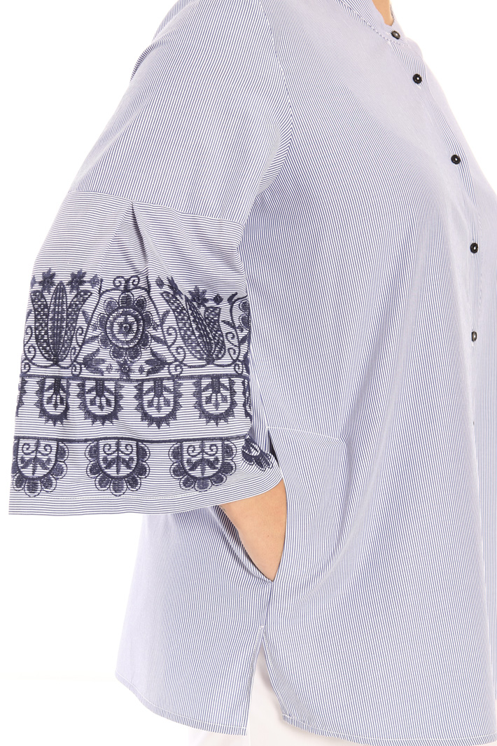 Embroidered cotton shirt Intrend