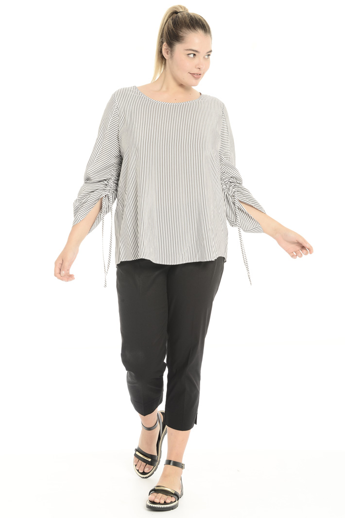 Yarn-dyed viscose blouse Intrend
