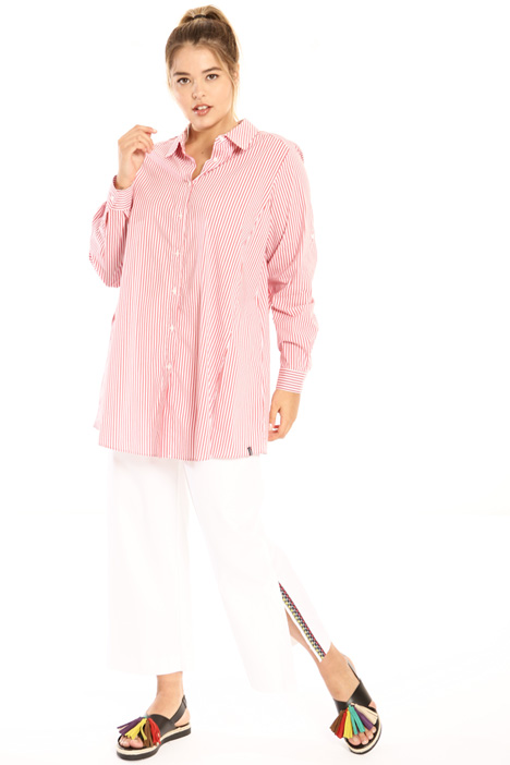 Flared poplin shirt Intrend