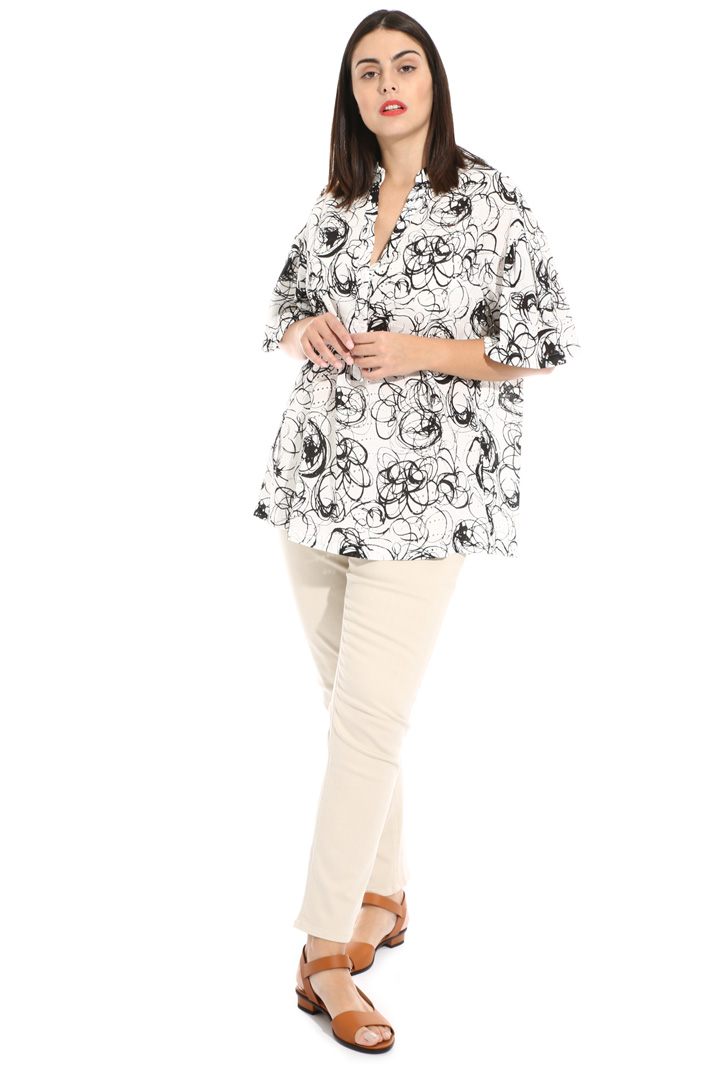 Embroidered cotton tunic Intrend