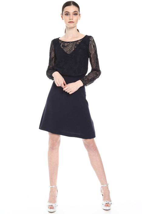 Lace and crepe dress Intrend
