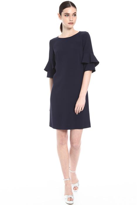 Pleated sleeve dress Intrend