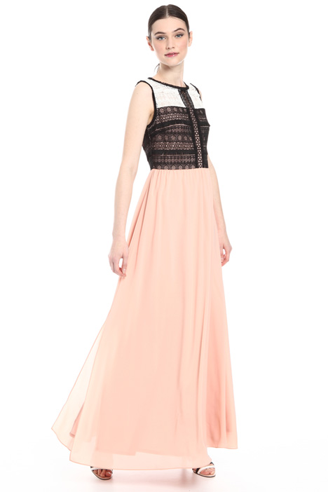 Crepe and macramé lace dress Intrend