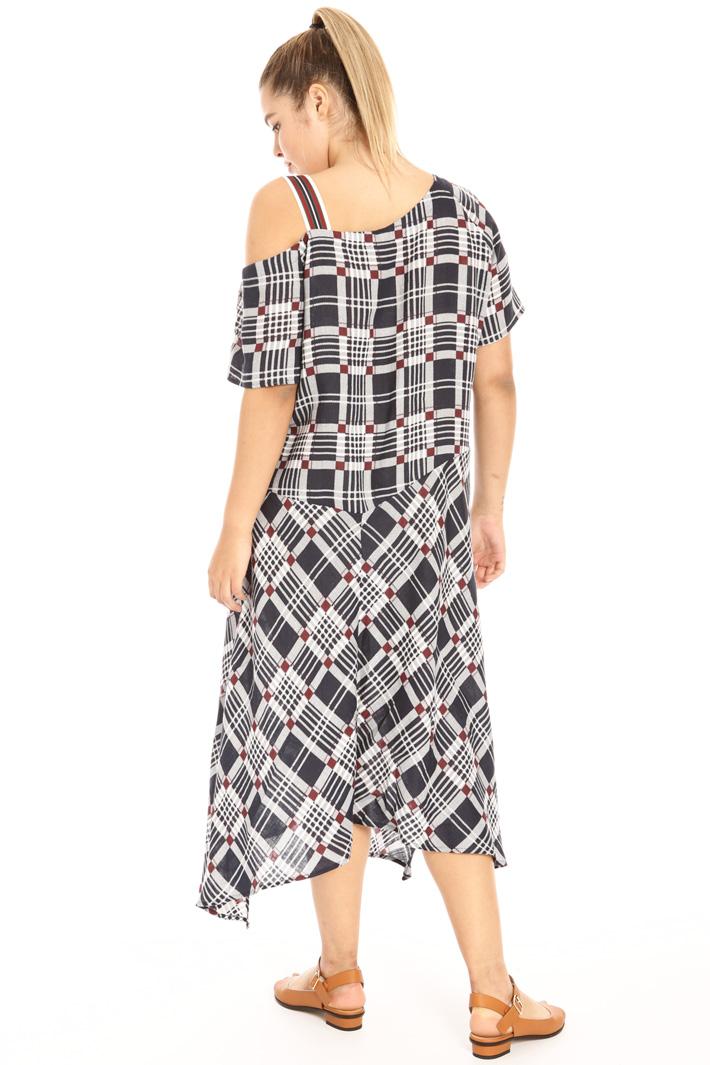 Long printed linen dress Intrend