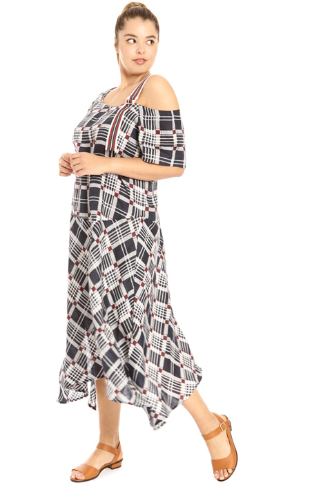 Long printed linen dress Intrend