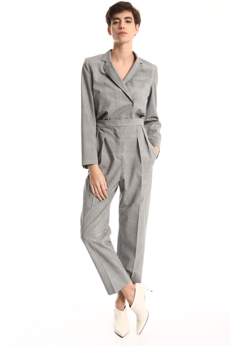Crossed neck wool jumpsuit Intrend
