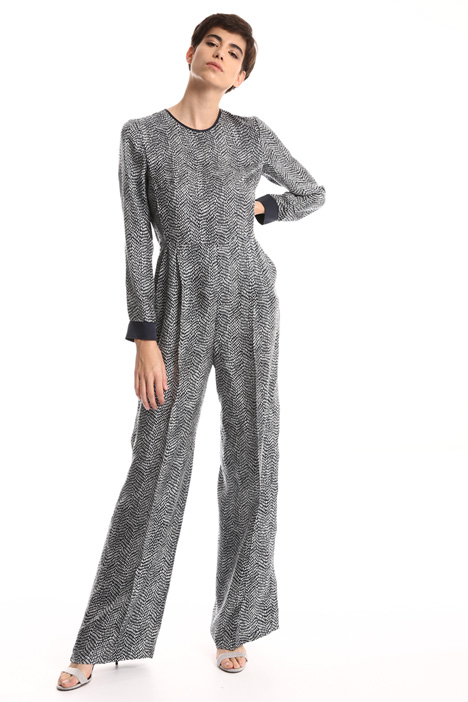 Pure silk twill jumpsuit Intrend