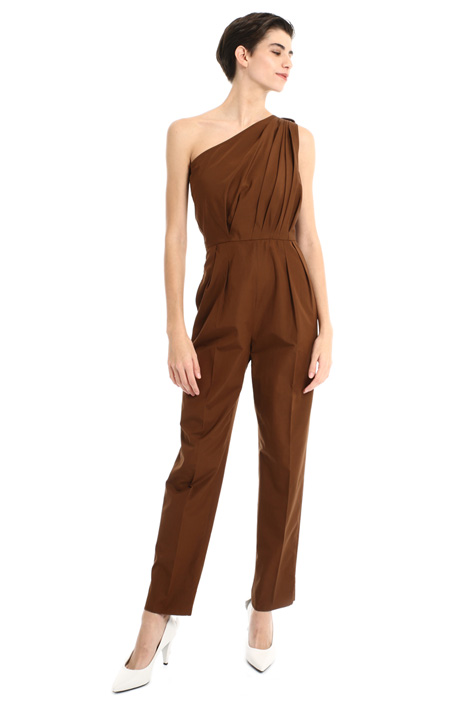 Pure cotton one shoulder suit Intrend