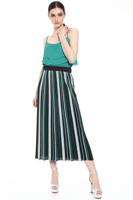 Viscose and lurex skirt Intrend