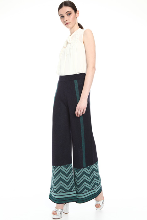 Jacquard lurex trousers Intrend