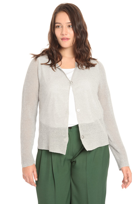 Cotton and lurex cardigan Intrend