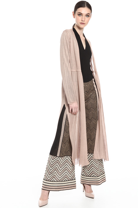 Long cardigan with splits Intrend