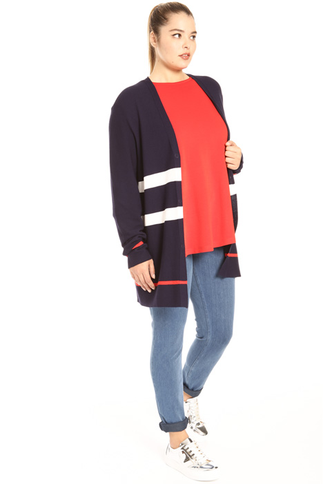 Crepe and viscose cardigan Intrend