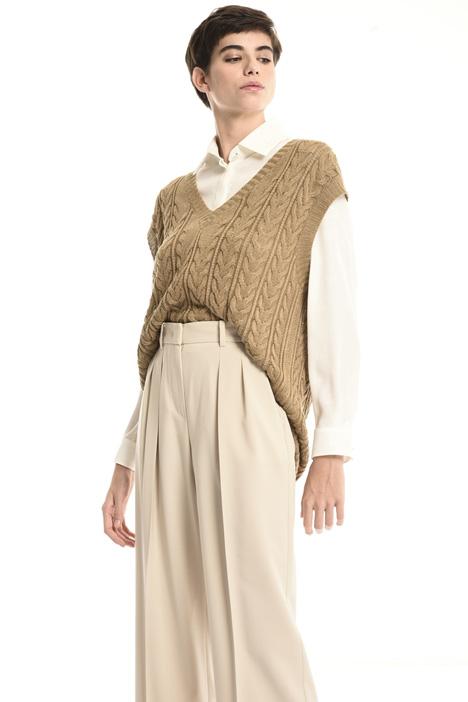 Linen yarn sweater vest Intrend