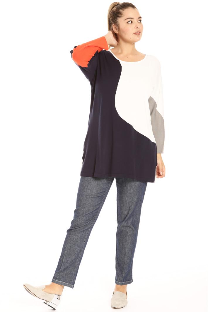 Stretch viscose sweater Intrend