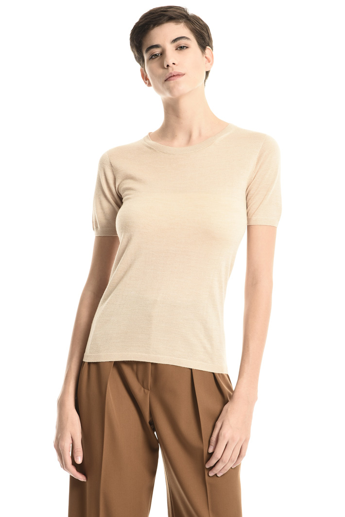 Camel and silk sweater Intrend