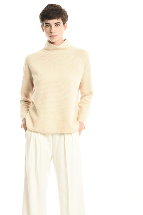 Mock neck cashmere sweater Intrend