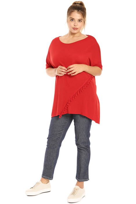 Tassel viscose sweater  Intrend