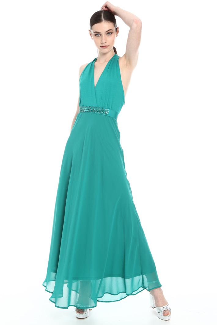 Long back knot dress Intrend