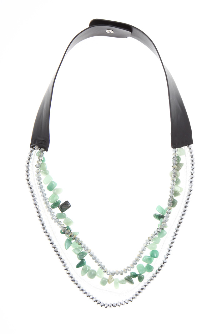 Necklace with glass JET   Intrend