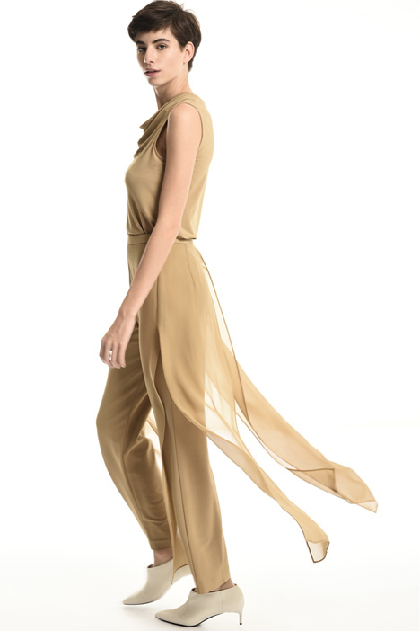 Trousers with silk voile    Intrend