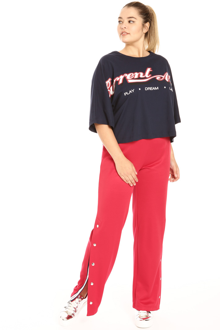 Cropped T-shirt in jersey Intrend