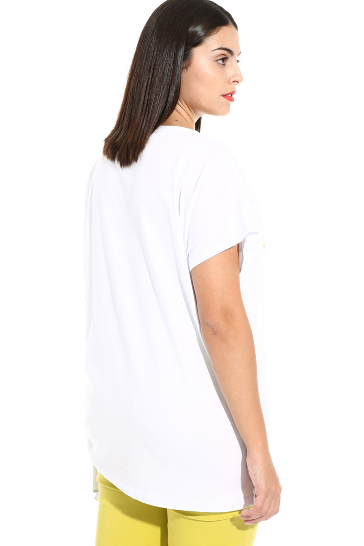 Maxi T-shirt in pure cotton  Intrend
