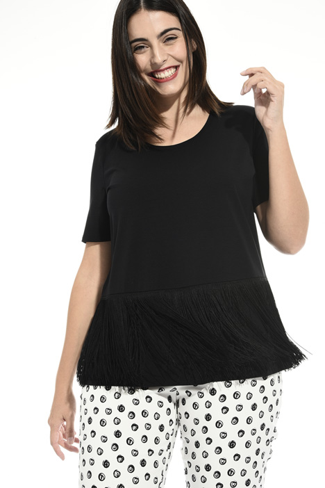 Fringed jersey T-shirt Intrend