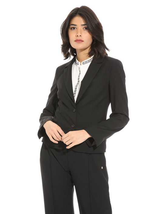 Viscose canvas blazer Intrend