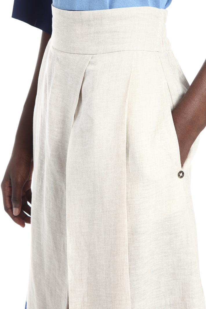 Pure linen canvas skirt Intrend
