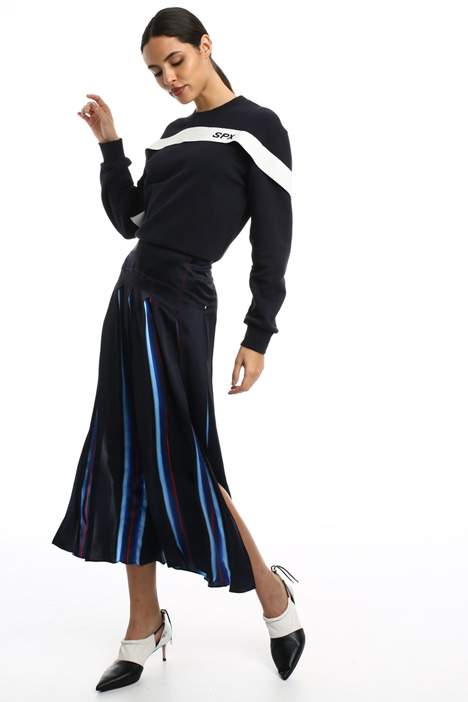 Pleated silk skirt Intrend