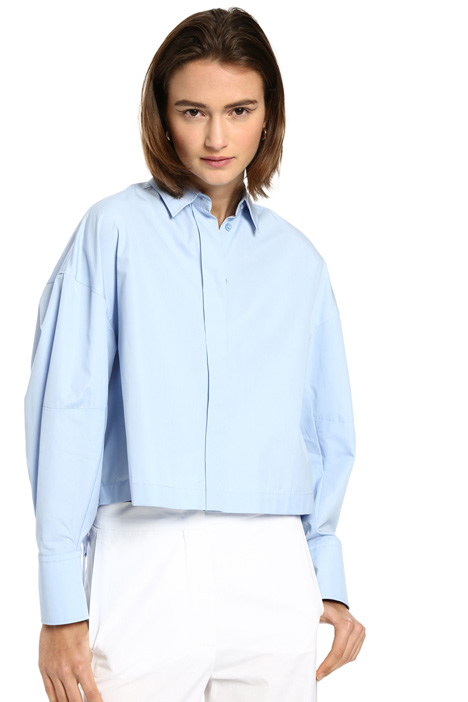 Boxy shirt in cotton Intrend