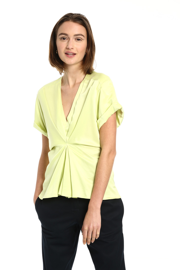 Viscose and silk top Intrend