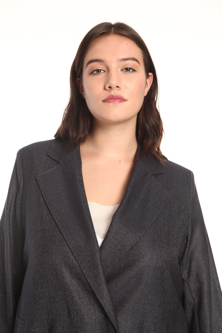 Wool and silk duster coat Intrend