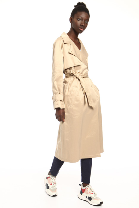 Belted cotton trench Intrend