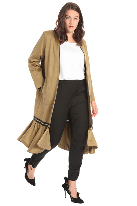 Cotton and linen duster coat Intrend