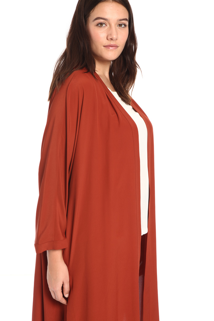 Long crepe duster coat Intrend