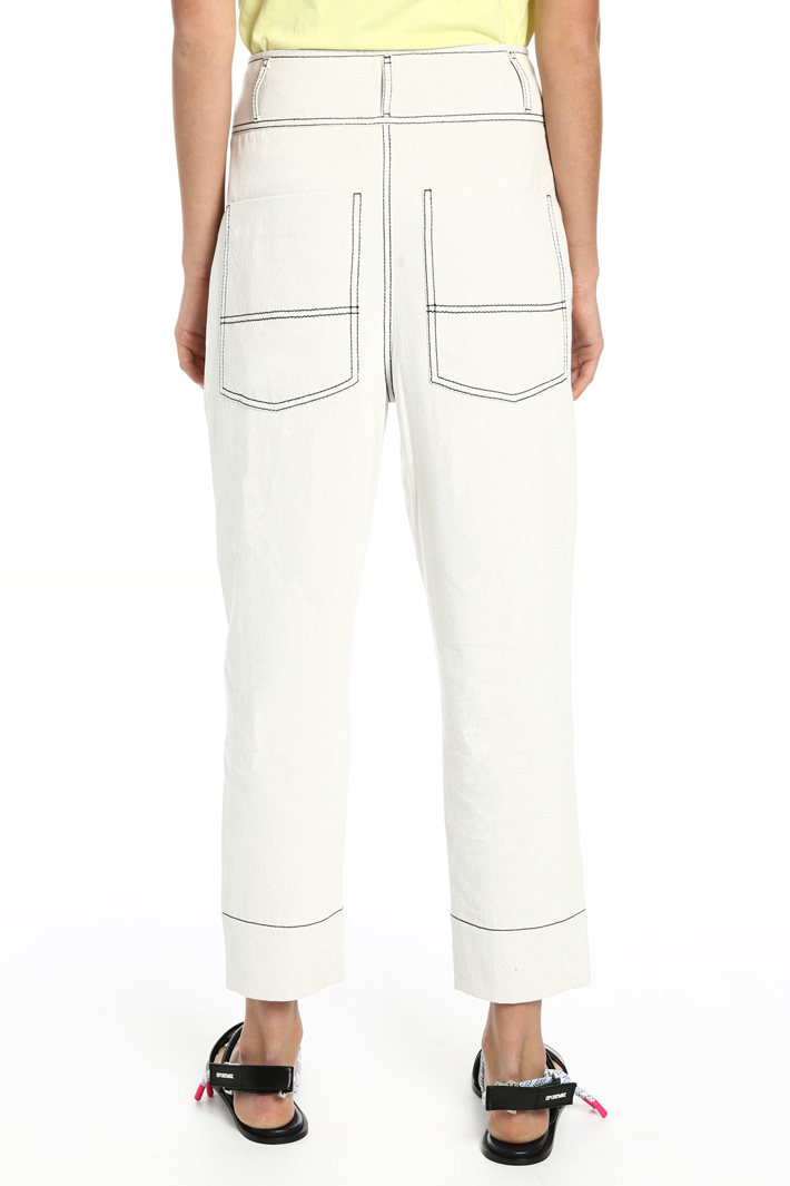 Cotton and linen trousers Intrend