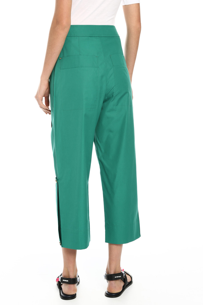Cotton cropped trousers Intrend