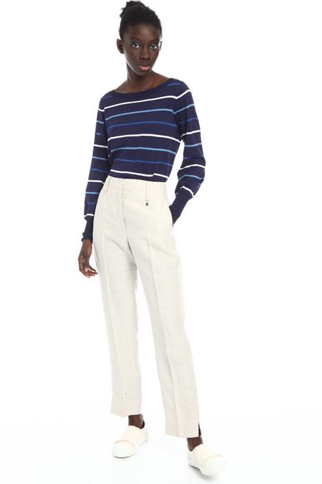 Regular fit linen trousers Intrend