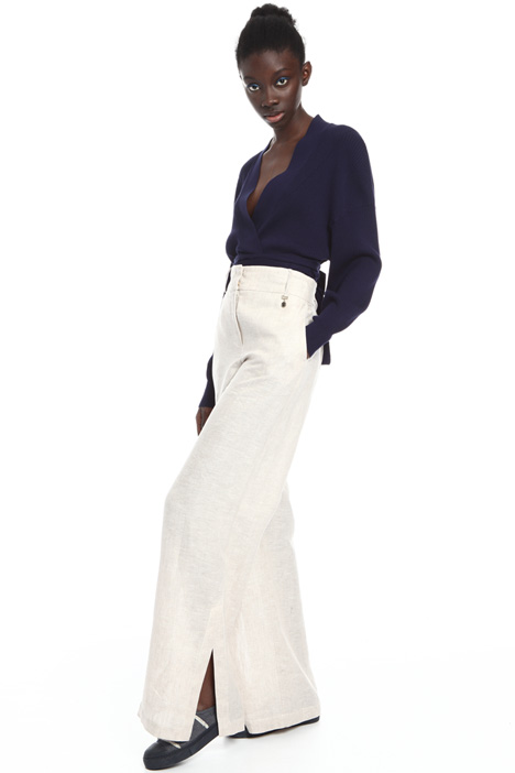 Pure linen canvas trousers Intrend