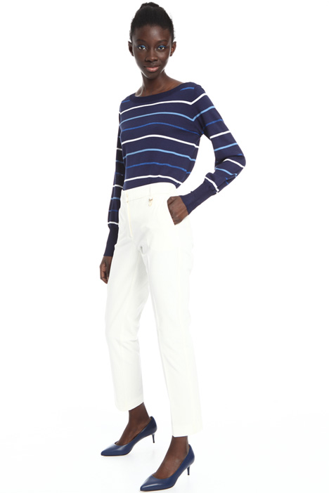 Creased cotton trousers Intrend