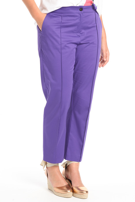 Pantaloni in raso di cotone Intrend