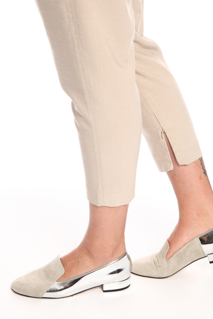 Cropped twill trousers Intrend