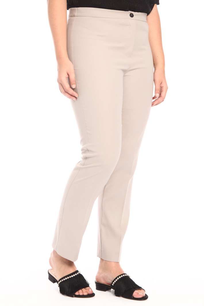 Cotton crêpe trousers  Intrend