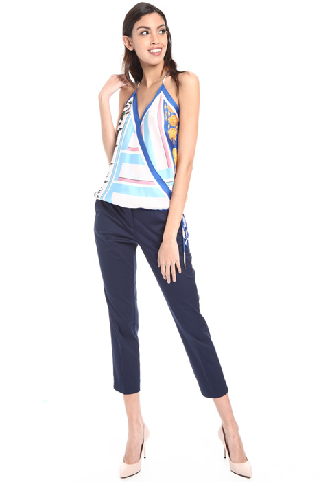 Foulard print sleeveless top Intrend